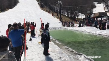 Ski lodge says goodbye to the season in a wet and wild way!