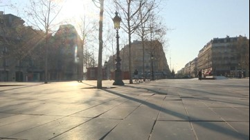 Paris empty amid COVID-19 lockdown