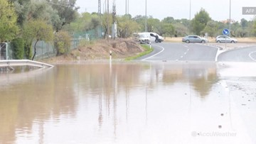 Roads turned to rivers as torrential rain strikes Spain