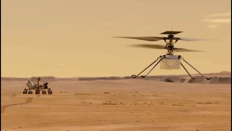 NASA's Ingenuity Martian Helicopter Set to Have First Test Flight
