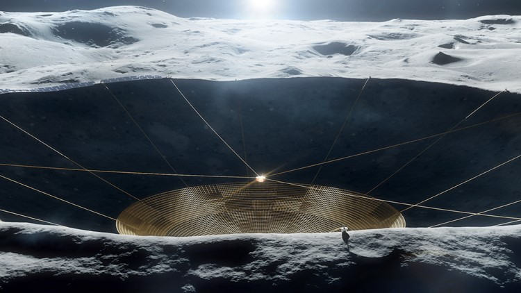 NASA to Build a Massive, Arecibo-Like Radio Dish on the Moon