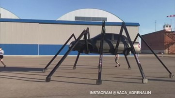 Car Owner Trades in Wheels for 8 Legs to Create Creepy Ride That Really Crawls