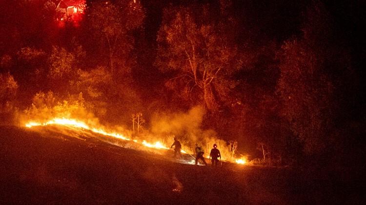 California Wildfires Moraga Oct 10 2019