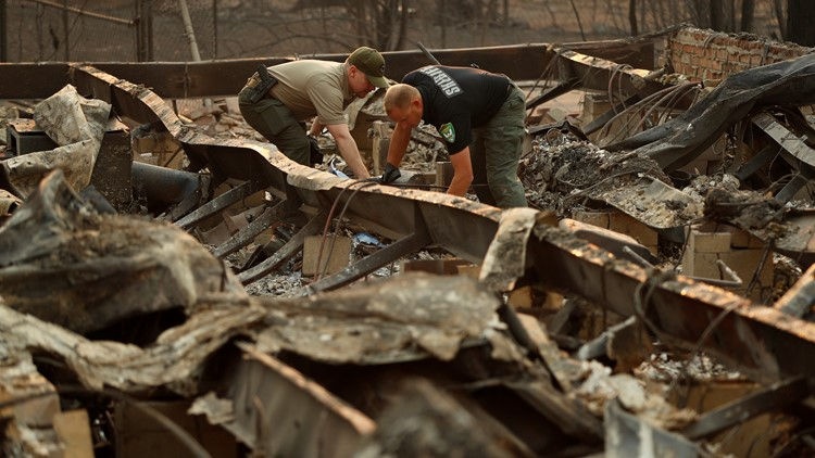 California Wildfires recovery teams paradise