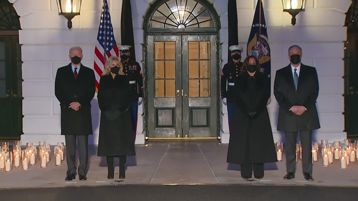 White House holds candlelight vigil, moment of silence to mourn COVID-19 deaths