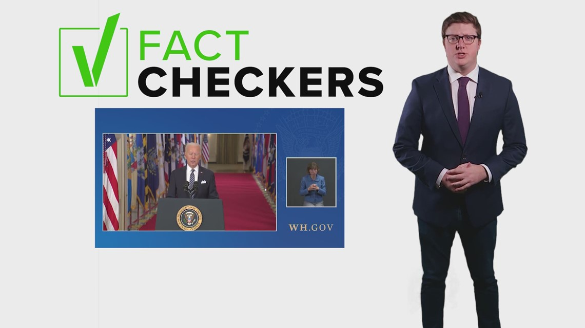 VERIFY: Fact-checking President Biden's speech about COVID-19