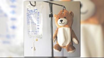 Girl with autoimmune disease creates teddy bears that hide IV bags