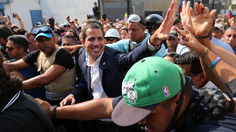Venezuela Political Crisis self-proclaimed president Juan Guaido