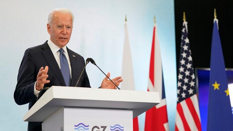 After G-7, Biden says he's reestablishing US credibility
