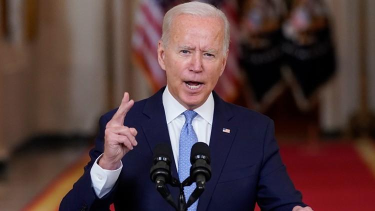 President Biden praises Afghanistan airlift, defends departure from 'forever war'