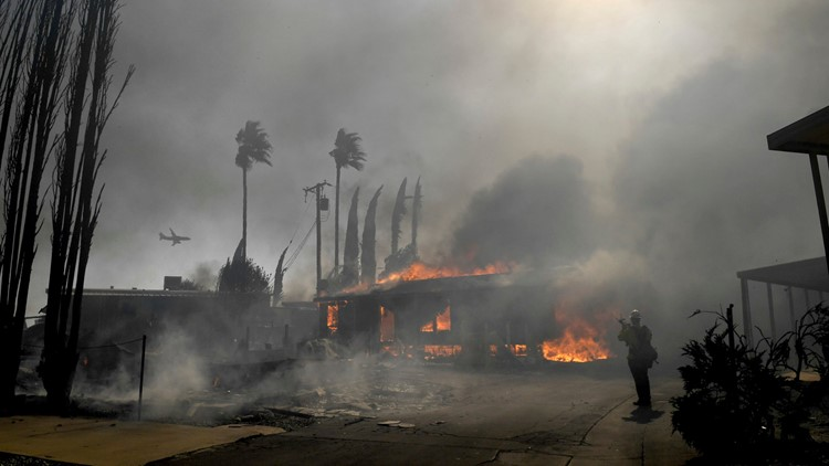 California Wildfires Calimesa Oct 10 2019
