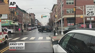 RAW VIDEO: Scene of Jersey City shootout