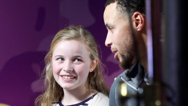Riley Morrison meets Stephen Curry