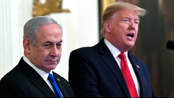 Trump Middle East peace plan calls for Palestinian state, settlement freeze