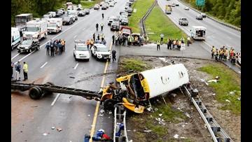 Student, teacher dead after school bus-dump truck crash