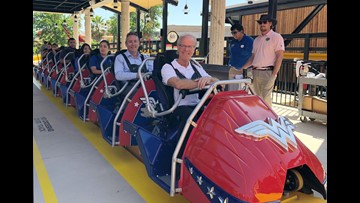Exclusive Six Flags Fiesta Texas Wonder Woman Coaster Review