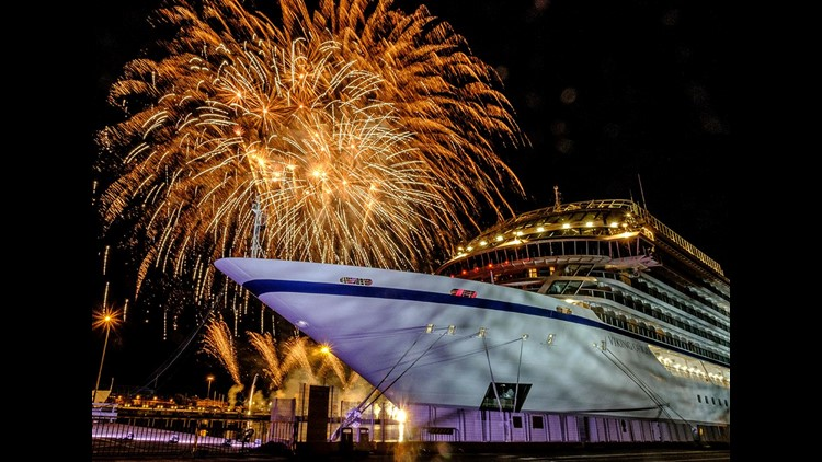 River cruise giant Viking's move into ocean cruising hit another milestone on Thursday  as the company christened its fifth ocean ship, Viking Orion, along the waterfront of Livorno, Italy.