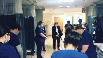 Picture of nurses praying at San Antonio area hospital goes viral