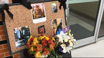 Fire Station 1 decorated in honor of San Antonio firefighter Greg Garza