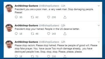 SA archbishop expresses regret for tweets directed at President Trump