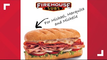 Free Firehouse Subs if your name is Michael, Marquita or Michelle