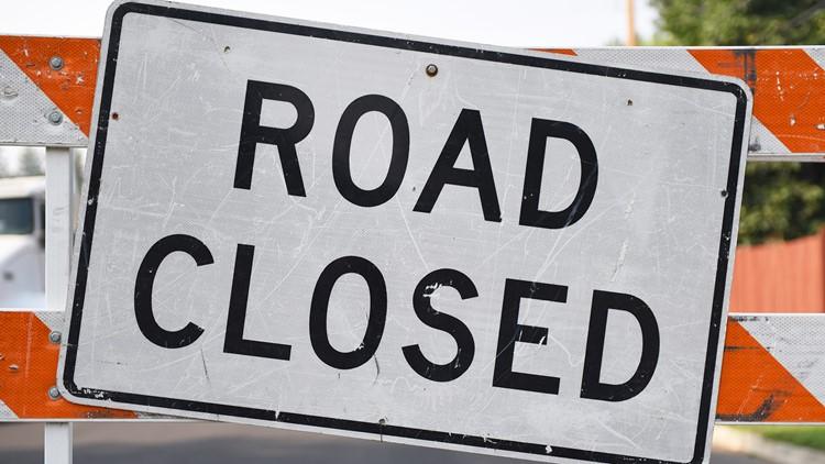 Weekly road closures from Jan. 25 through Jan. 31