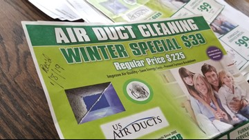 Customers left with $1000+ bills after responding to air duct cleaning ad