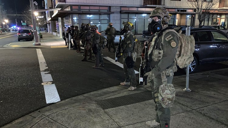 Federal officers declare unlawful assembly outside Portland ICE facility, use munitions on demonstrators