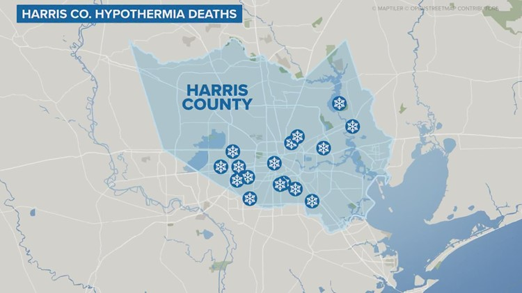 There was a human cost to last week's winter storm: 16 froze to death in Harris County