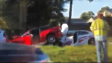 Deputy's patrol car crashes under sports car in pileup on Spring Cypress