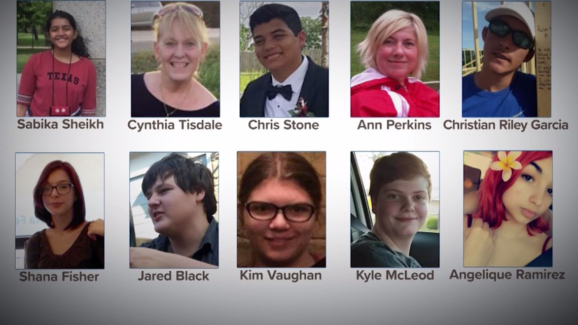 cf1fb0b7ab73 ... the victims from the Santa Fe High School shooting at Walter Hall Park  on May 20, 2018 in League City, Texas. (Photo by Scott Olson/Getty Images)