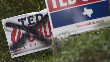 Senate race turns ugly as campaign signs are vandalized in west Houston