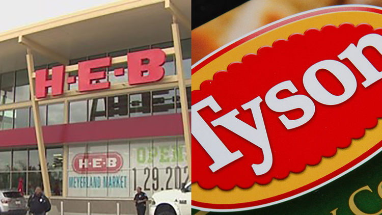 H-E-B alerts customers about Tyson Foods chicken products recalled due to listeria concerns