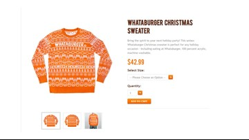 Whataburger Christmas sweaters already sold out, but more are on the way