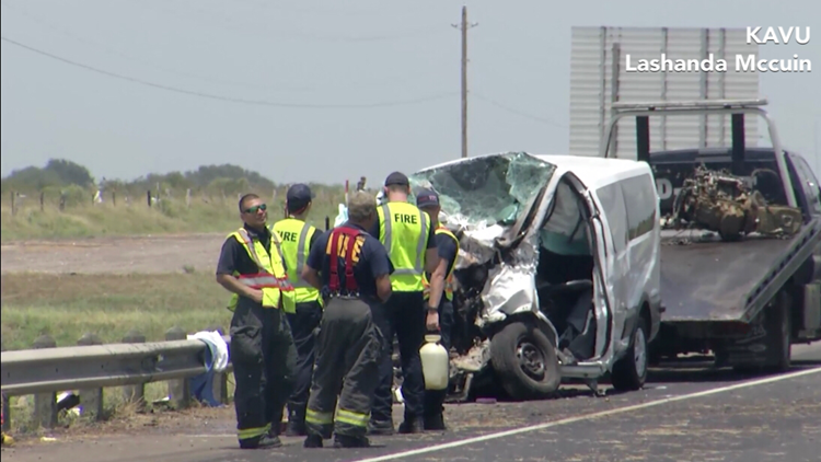 Five dead, several others injured in multi-vehicle wreck on US 59 near Victoria, fire chief says