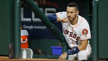 Astros' Carlos Correa out 4 to 6 weeks after fracturing rib during massage