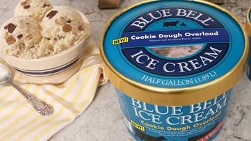 Blue Bell debuts 'Cookie Dough Overload' flavor ice cream