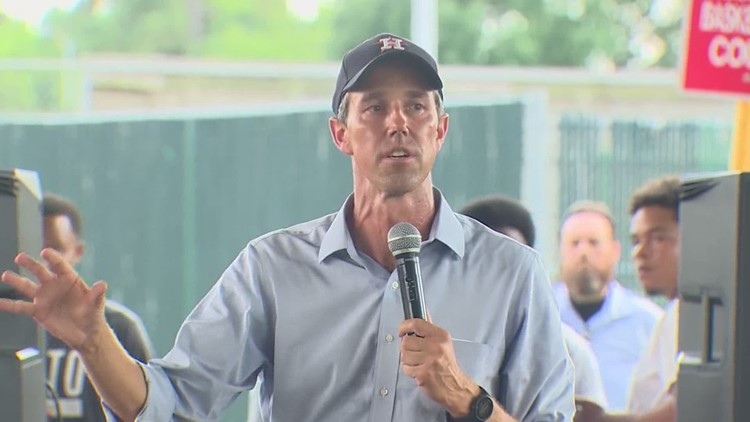 Beto O'Rourke stops in Houston during statewide tour promoting voting rights