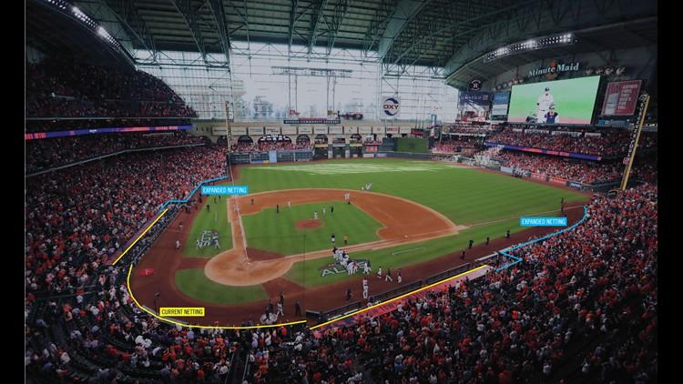 Houston Astros extended netting