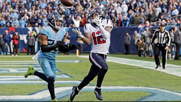 Texans hang on for 24-21 win over Titans to take AFC South division lead