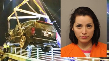 Drunken driver crashes Cadillac on light rail tracks, police say