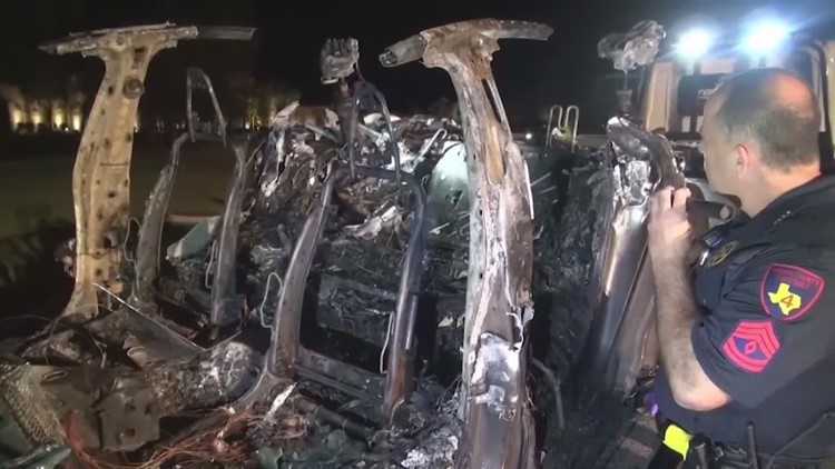 NTSB: Driver was behind wheel at time of fiery Tesla crash in Spring, refuting original claims