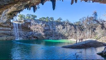 This beautiful Texas waterfall, swimming spot is now taking reservations