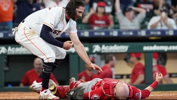 Astros' Marisnick appeals two-game suspension for violent collision