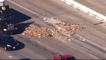 Pig parts shut down part of Southwest Freeway for hours