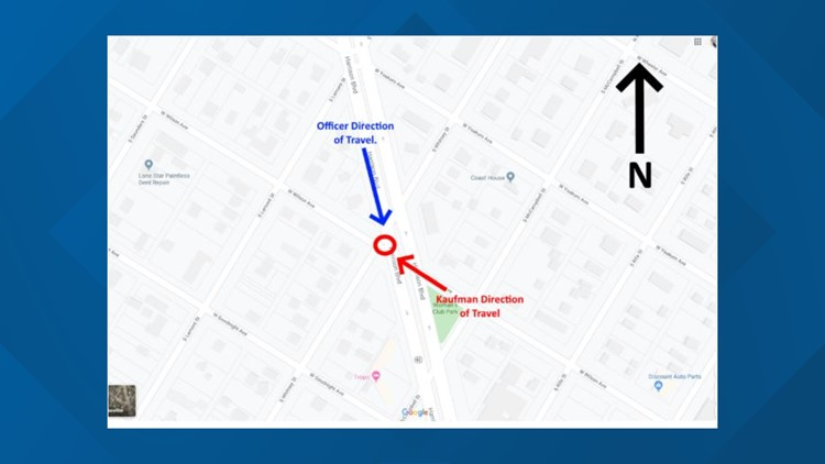 Aransas Pass police map of accident