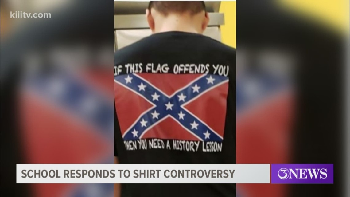 Facebook post shows Tuloso-Midway student wearing confederate flag shirt