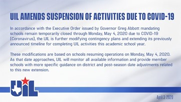 UIL announces suspension of activities until further notice due to COVID-19