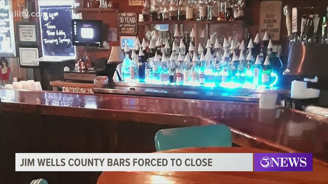 Jim Wells County bars that don't sell food forced to close, emergency management team announces