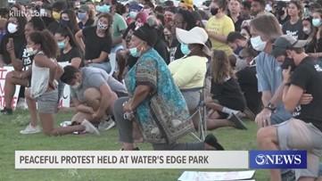 Peaceful protest held at Water's Edge Park Saturday evening